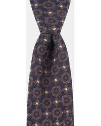Hardy Amies - Navy & Brown Geometric Boucle Tie - Lyst