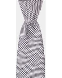 Moss Bros - Navy & White Check Tie - Lyst