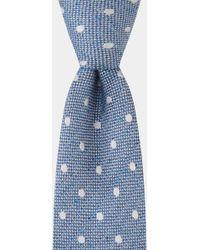 Hardy Amies - Blue & White Spot Boucle Tie - Lyst