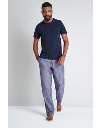 Ted Baker   Navy T-shirt & Shorts Pyjama Set   Lyst