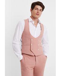 5c3e194028b9d TOPMAN Noose   Monkey Floral Pink Velvet  elton Rose  Blazer in Pink ...