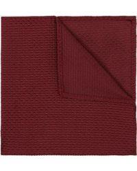 DKNY - Wine Textured Pocket Square - Lyst