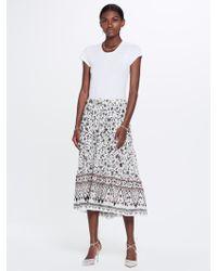 Xirena - Kaia Xanadue Printed Gauze Skirt White Sand - Lyst