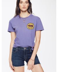 Aviator Nation - Small California Bear Circle Boyfriend Tee Vintage Purple - Lyst