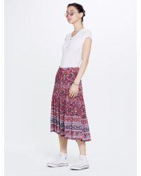 Xirena - Avedon Printed Gauze Kaia Skirt Red - Lyst