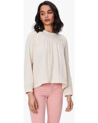 Xirena Ensley Chelsea Gauze Shirt Full Moon - White