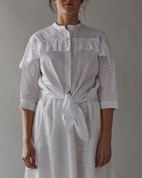 M.Patmos - Frida Ruffle Shirt - Lyst