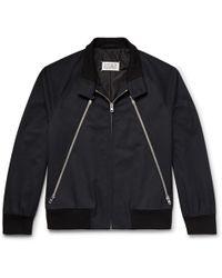 Maison Margiela - Zip-detailed Twill And Corduroy Blouson Jacket - Lyst