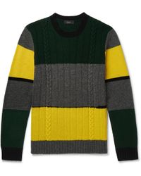 Joseph | Colour-block Cable-knit Wool Jumper | Lyst
