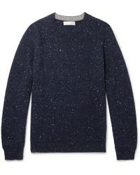 Brunello Cucinelli - Ribbed Virgin Wool-blend Sweater - Lyst
