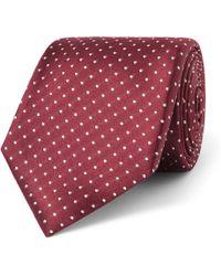 Canali - 8cm Polka-dot Silk Tie - Lyst