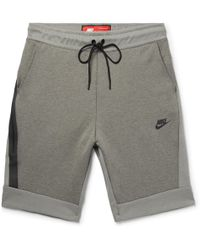 Nike - Cotton-blend Tech Fleece Shorts - Lyst