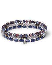 Peyote Bird - Multi-stone And Sterling Silver Bracelet - Lyst