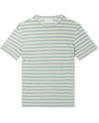 d6c67865 Gant Rugger Striped Cotton Rugby Shirt in Blue for Men - Lyst