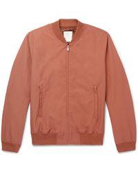 Sandro - Monaco Cotton-blend Twill Bomber Jacket - Lyst