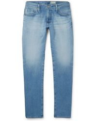 AG Jeans - - Tellis Slim-fit Stretch-denim Jeans - Light Denim - Lyst