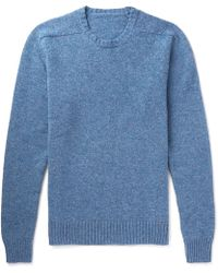 Anderson & Sheppard | Mélange Wool Sweater | Lyst