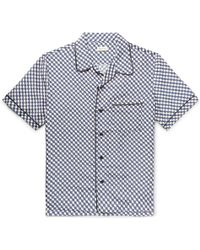You As - Oswald Camp-collar Piped Printed Silk Shirt - Lyst