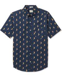 J.Crew - Slim-fit Button-down Collar Printed Cotton Shirt - Lyst