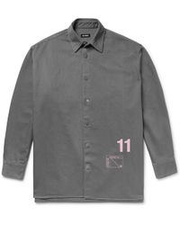 Raf Simons - Oversized Printed Denim Shirt Jacket - Lyst