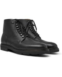 John Lobb - Helston Pebble-grain Leather Boots - Lyst