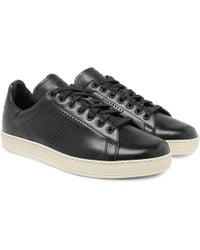 Tom Ford - Warwick Perforated Leather Trainers - Lyst