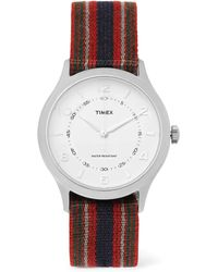 Timex | Whitney Village Reversible Stainless Steel And Grosgrain Watch | Lyst