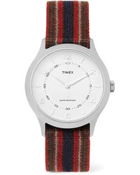 Timex - Whitney Village Reversible Stainless Steel And Grosgrain Watch - Lyst