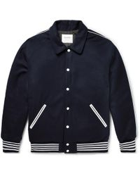 Noon Goons - Appliquéd Wool-fleece Bomber Jacket - Lyst