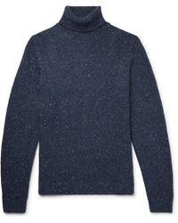 Alex Mill - Mélange Merino Wool-blend Rollneck Sweater - Lyst