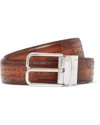 Berluti - 3.2cm Scritto Reversible Leather Belt - Lyst
