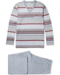 Zimmerli - Striped Cotton-jersey Pyjama Set - Lyst