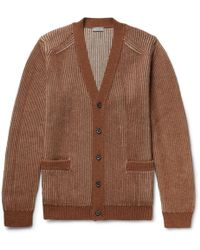 Lanvin - Ribbed Merino Wool And Alpaca-blend Cardigan - Lyst