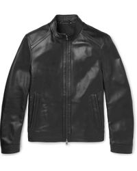 BOSS - Nestal Leather Jacket - Lyst