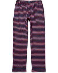 Sleepy Jones - Striped Cotton-flannel Pyjama Trousers - Lyst