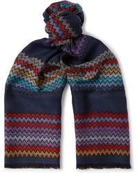 Missoni - Fringed Zigzag Wool Scarf - Lyst