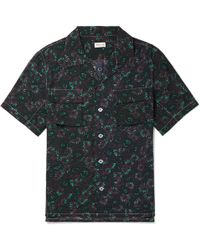You As - Arlo Camp-collar Printed Gauze Shirt - Lyst