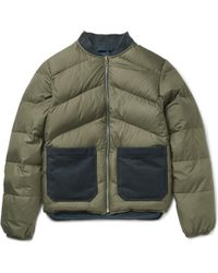 The Workers Club - Reversible Quilted Shell Down Bomber Jacket - Lyst