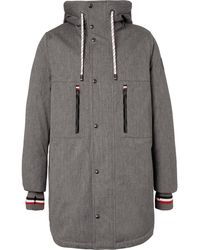 Moncler Gamme Bleu - Faux Shearling-lined Cotton-blend Twill Down Coat - Lyst