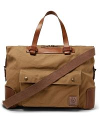 Belstaff - Colonial Leather And Canvas Duffle Bag - Lyst