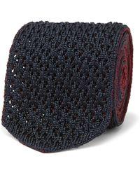 Ermenegildo Zegna - 6cm Reversible Knitted Silk Tie - Lyst