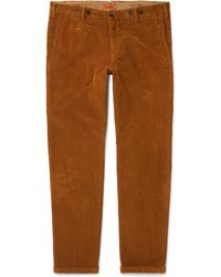 Barena - Tapered Stretch-cotton Corduroy Trousers - Lyst