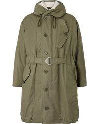 Sandro - Shearling-trimmed Cotton-canvas Hooded Parka - Lyst