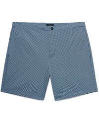 Theory - Slim-fit Mid-length Printed Swim Shorts - Lyst