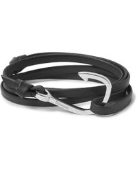 Miansai - Hook Leather Silver-plated Wrap Bracelet - Lyst