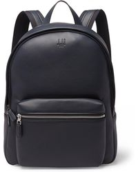 Dunhill - Hampstead Canvas-panelled Full-grain Leather Backpack - Lyst
