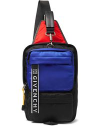 Givenchy - Ut3 Colour-block Logo-jacquard Leather-trimmed Shell Backpack - Lyst