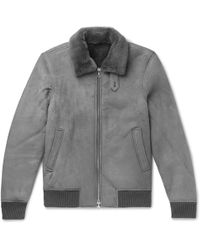 Officine Generale - Shearling Bomber Jacket - Lyst