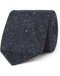 Drake's - 8cm Textured Silk And Cotton-blend Tie - Lyst