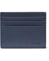 Prada - Saffiano Leather Cardholder - Lyst